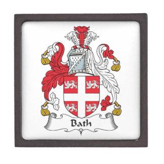 Escudo de la familia del baño caja de joyas de calidad