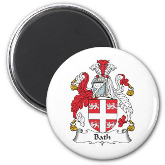 Escudo de la familia del baño imán de nevera