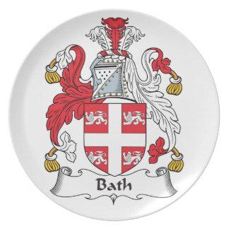 Escudo de la familia del baño plato para fiesta