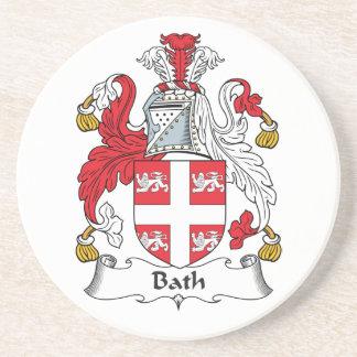 Escudo de la familia del baño posavasos manualidades