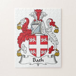 Escudo de la familia del baño puzzle con fotos