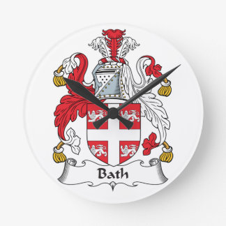 Escudo de la familia del baño relojes de pared