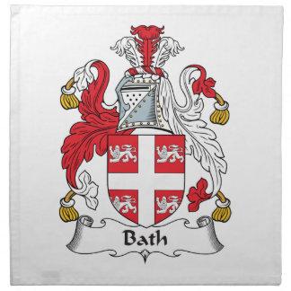 Escudo de la familia del baño servilleta