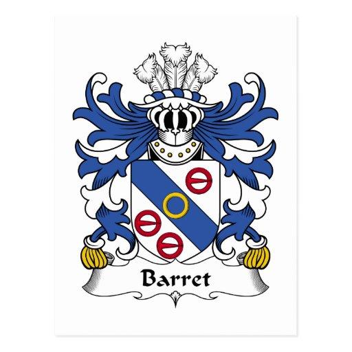 Escudo de la familia del Barret Postal