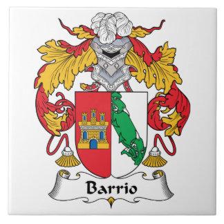 Escudo de la familia del barrio hispano azulejo cuadrado grande