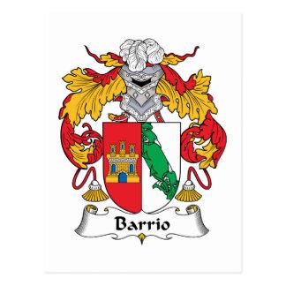 Escudo de la familia del barrio hispano tarjeta postal