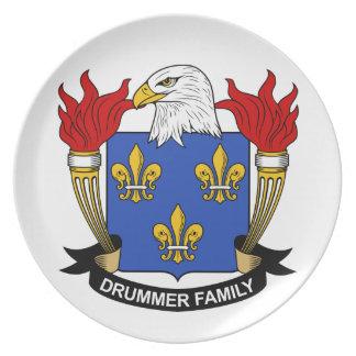 Escudo de la familia del batería plato