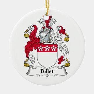 Escudo de la familia del billete adorno redondo de cerámica