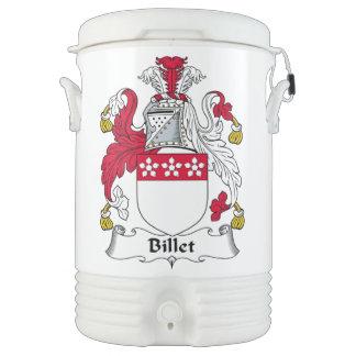Escudo de la familia del billete vaso enfriador igloo