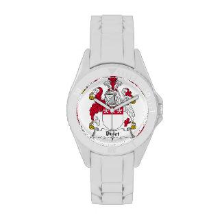 Escudo de la familia del billete reloj de mano