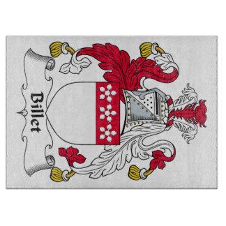 Escudo de la familia del billete tablas para cortar