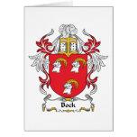 Escudo de la familia del Bock Tarjeta