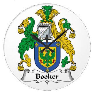 Escudo de la familia del Booker Reloj Redondo Grande