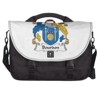 Escudo de la familia del bordón bolsas para portátil