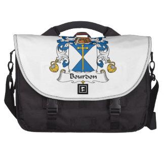 Escudo de la familia del bordón bolsas de portátil