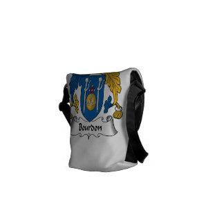 Escudo de la familia del bordón bolsas messenger