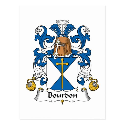 Escudo de la familia del bordón postales