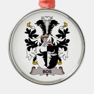 Escudo de la familia del Bos Adorno Navideño Redondo De Metal