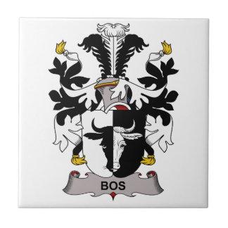 Escudo de la familia del Bos Azulejo Cuadrado Pequeño