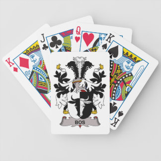 Escudo de la familia del Bos Baraja Cartas De Poker