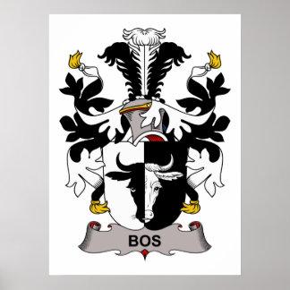Escudo de la familia del Bos Póster