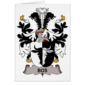 Escudo de la familia del Bos Tarjeta De Felicitación