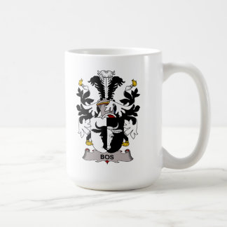 Escudo de la familia del Bos Taza Básica Blanca