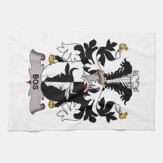 Escudo de la familia del Bos Toalla De Mano