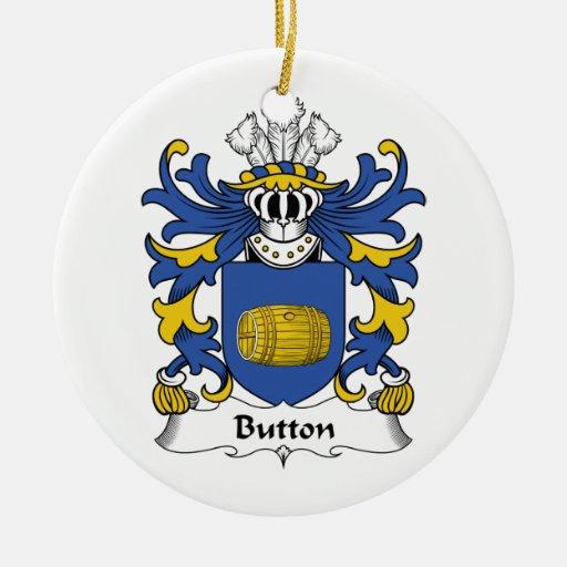 Escudo de la familia del botón adorno redondo de cerámica
