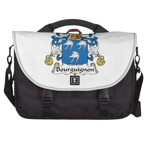 Escudo de la familia del Bourguignon Bolsas De Ordenador