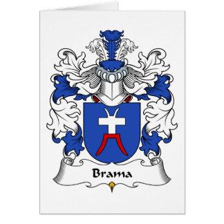 Escudo de la familia del Brama Tarjeta De Felicitación