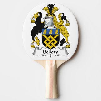 Escudo de la familia del bramido pala de tenis de mesa