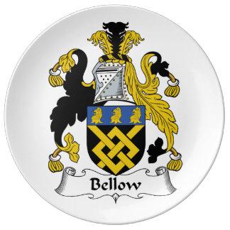 Escudo de la familia del bramido plato de cerámica