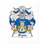 Escudo de la familia del bravo postal