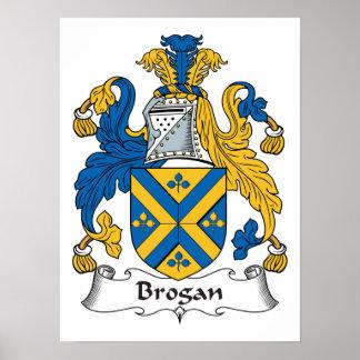 Escudo de la familia del Brogan Poster