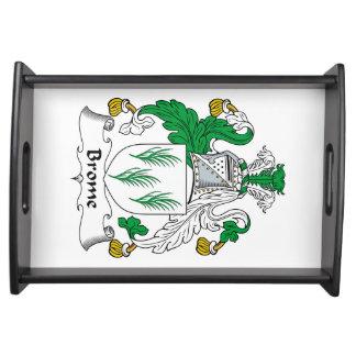 Escudo de la familia del Brome Bandeja