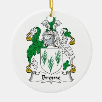Escudo de la familia del Brome Adorno Redondo De Cerámica