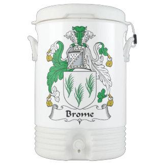 Escudo de la familia del Brome Enfriador De Bebida Igloo