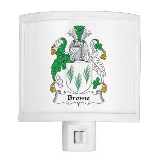 Escudo de la familia del Brome Luces De Noche