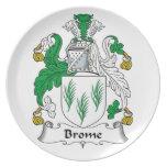 Escudo de la familia del Brome Platos