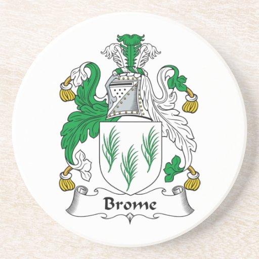Escudo de la familia del Brome Posavasos Personalizados