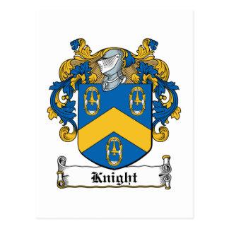 Escudo de la familia del caballero tarjeta postal
