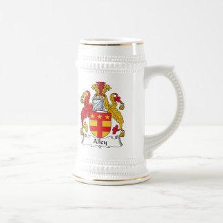Escudo de la familia del callejón jarra de cerveza