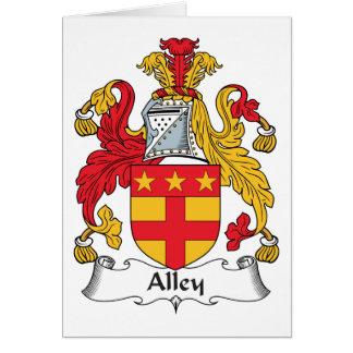 Escudo de la familia del callejón tarjeta de felicitación