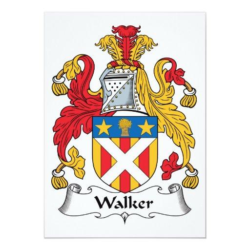 Escudo de la familia del caminante comunicados personalizados