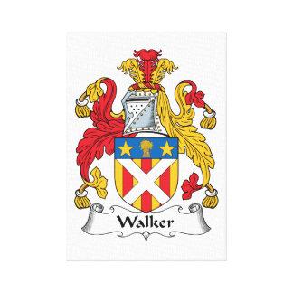 Escudo de la familia del caminante impresión en lienzo estirada