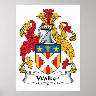 Escudo de la familia del caminante póster