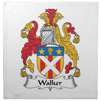 Escudo de la familia del caminante servilleta imprimida