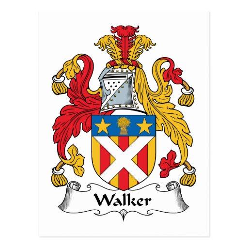 Escudo de la familia del caminante tarjetas postales