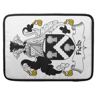 Escudo de la familia del campo fundas para macbook pro